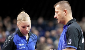 Zsolt Hollo coacht Chantal Mantz bei den NDM 2012